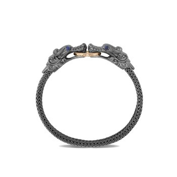Legends Naga Station Bracelet, Blackened Silver, Bronze