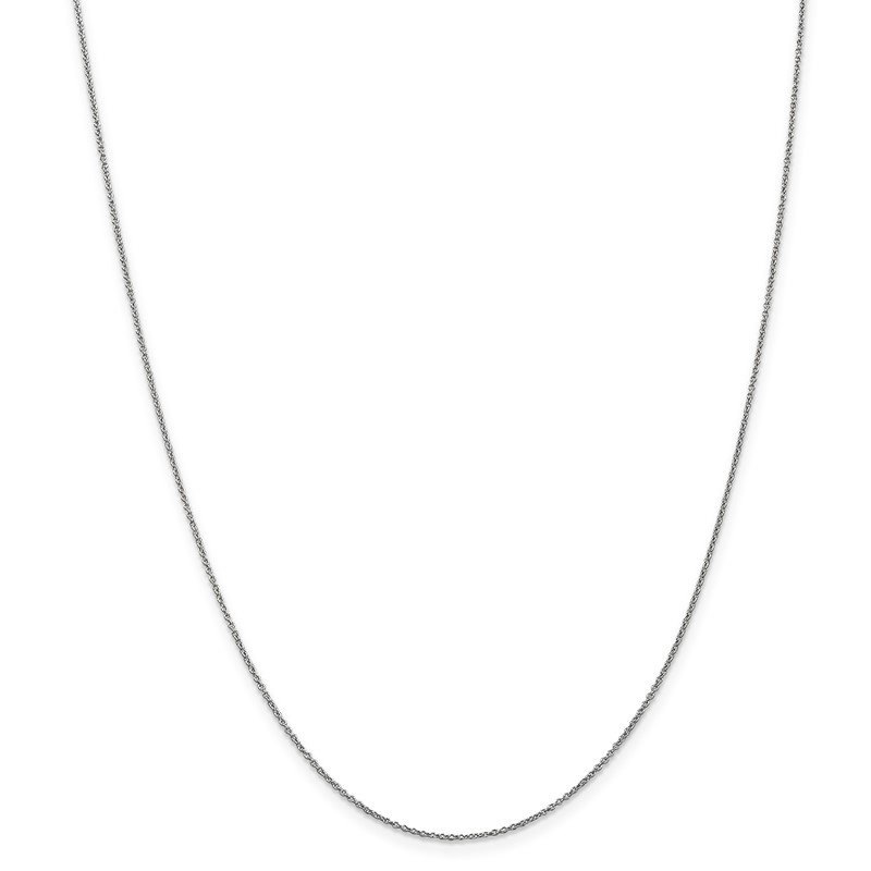 Quality Gold 14k WG .9mm Cable with Lobster Clasp Chain