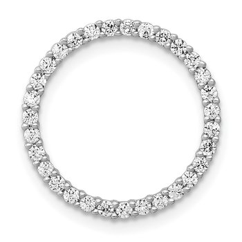 14k White Gold 1/4ct. Diamond Circle Chain Slide