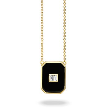 Gatsby Rectangle Onyx Necklace