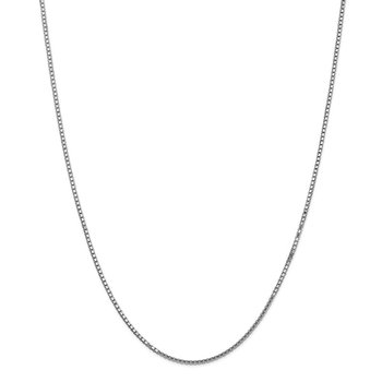 14k WG 1.5mm Box Chain