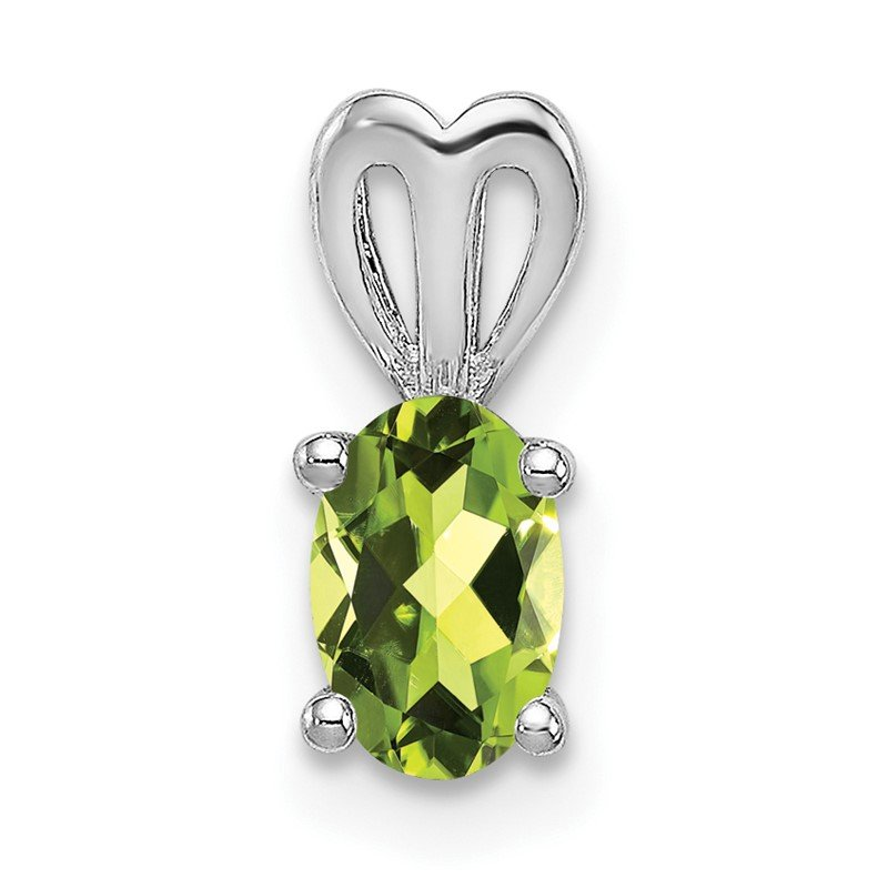 Quality Gold Sterling Silver Rhodium-plated Peridot Pendant