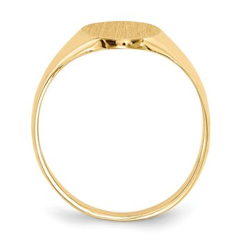14k 12.5x8.5mm Closed Back Signet Ring