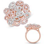 S. Kashi  & Sons Rose & White Gold Diamond Ring