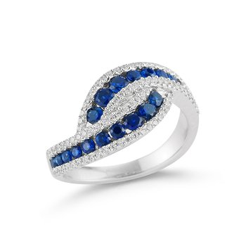 14kw  gold ring with  1ct  T.W in Sapphires  and 0.37ct T.W in diamonds.