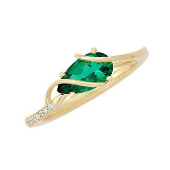 Emerald Ring-CR11758YEM
