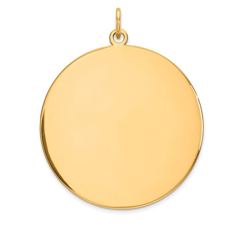 Quality Gold 14k Plain .035 Gauge Circular Engravable Disc Charm
