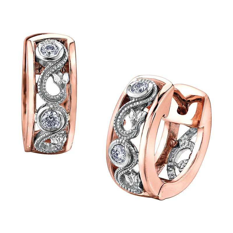 Timeless Beauty Maple Leaf Diamonds™ Summer Enchanted Huggie Earrings