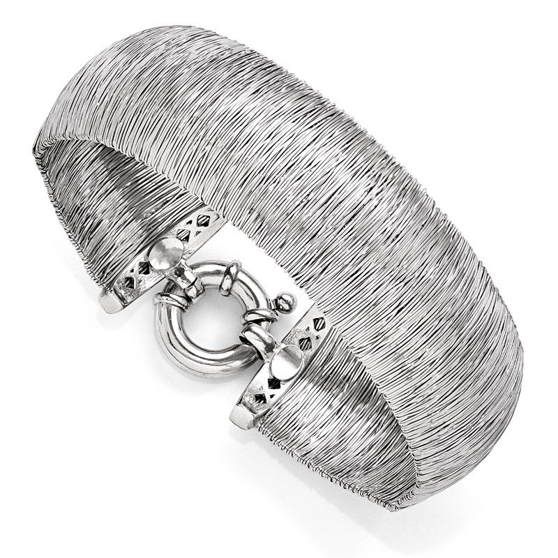 Leslie's Leslie's Sterling Silver Polished and Textured Bracelet