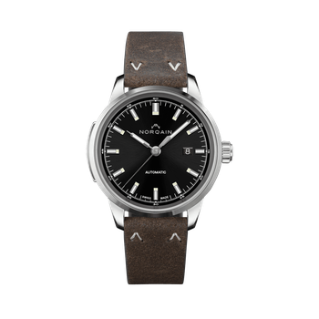 Freedom 60 - Black Dial Leather Strap Watch