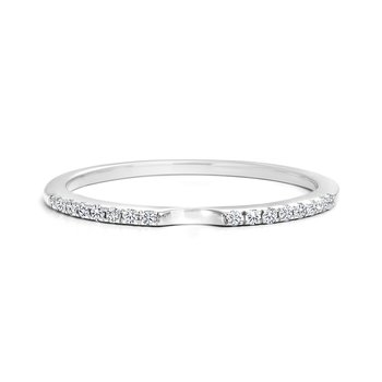 Pave Diamonds Wedding Band
