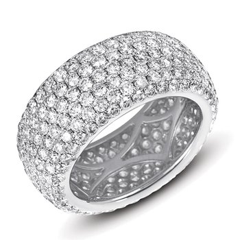 Platinum Pave Eternity Band