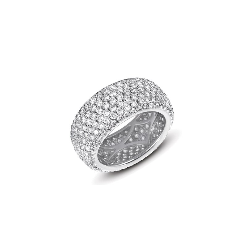 S. Kashi & Sons Bridal Platinum Pave Eternity Band