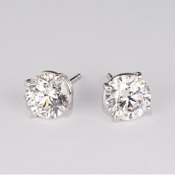 4 Prong 3.09 Ctw. Diamond Stud Earrings