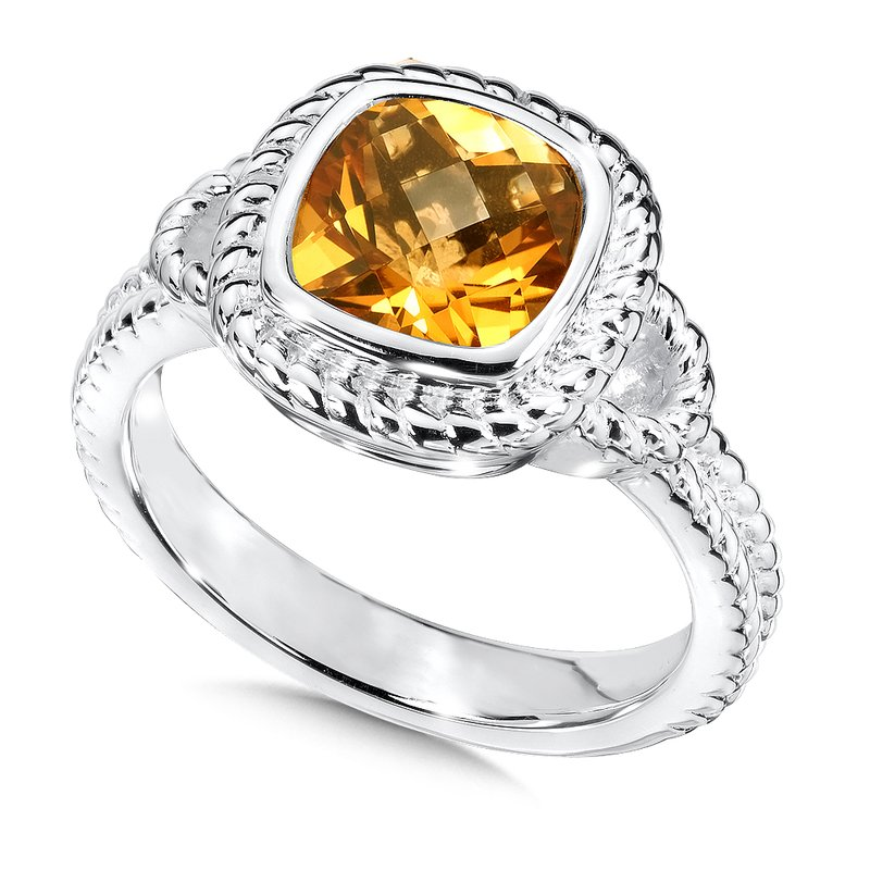 Colore Sg Sterling Silver Citrine Ring