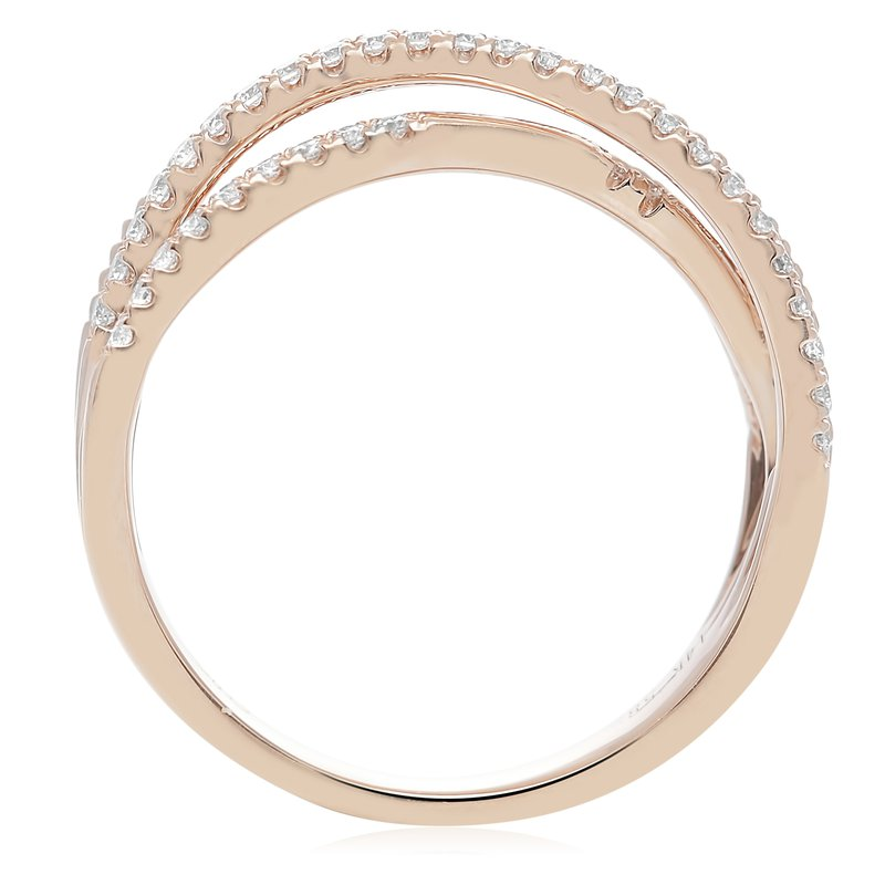 Roman & Jules Rose Gold & Diamond Overlapping Band