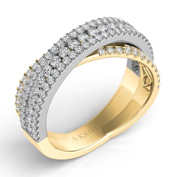 Yellow & White Gold Diamond Fashion Ring