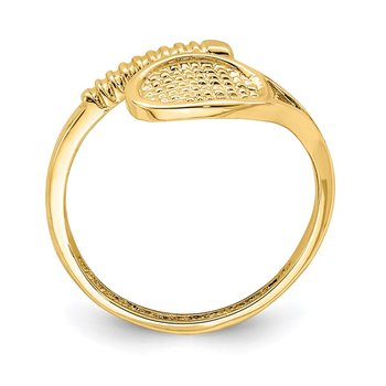 14K Polished Tennis Racket Toe Ring