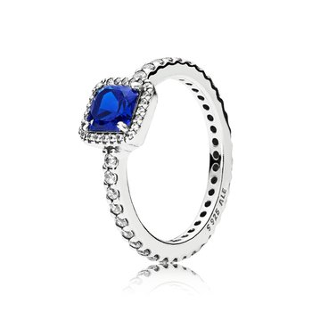 Timeless Elegance, True Blue Crystal Clear Cz