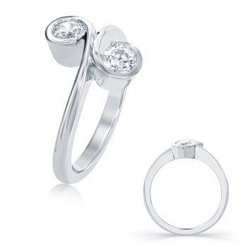 White Gold Two Stone Ring