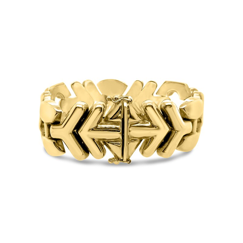 14K Yellow Gold Geometric Bracelet