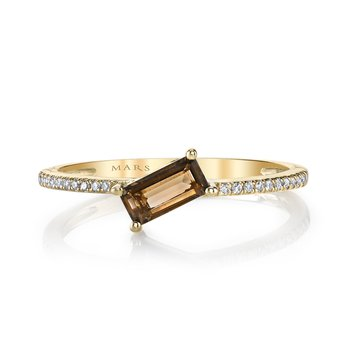 MARS 26844 Fashion Ring, 0.06 Dia. 0.32 S Quartz.