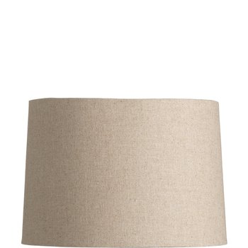 Linen Barrel Shade - Natural - 13 Inch