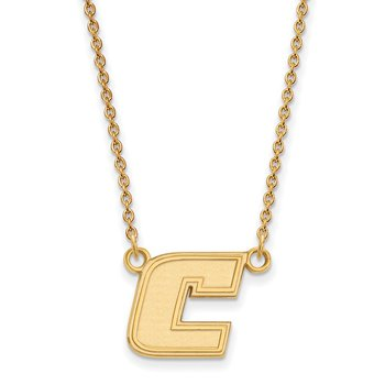 Gold University of Tennessee at Chattanooga NCAA Necklace