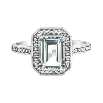 White Topaz Ladies Ring