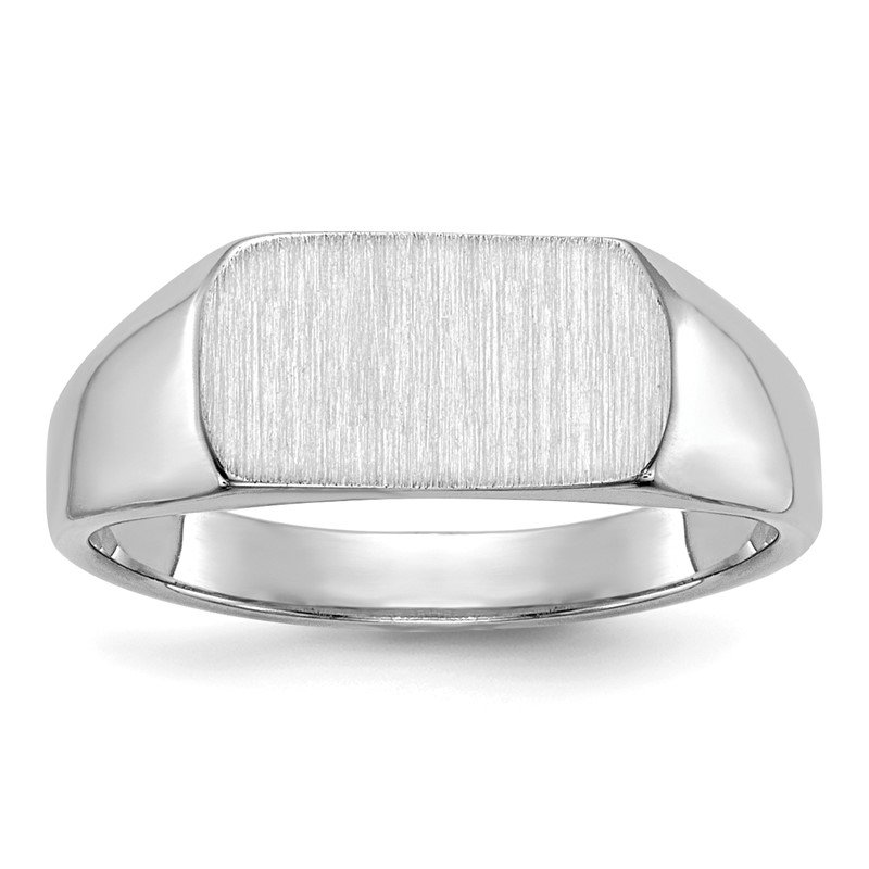 Quality Gold 14k White Gold 10mmx6mm Open Back Signet Ring