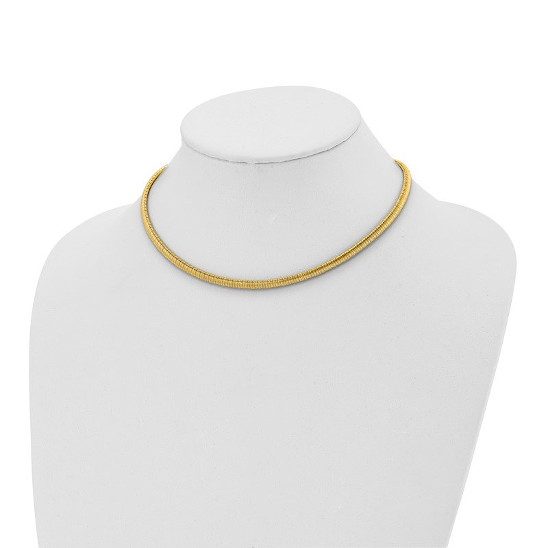 Leslie's Italian Gold Leslie's Sterling Silver Gold-tone with 2in ext. Necklace