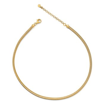 Leslie's Sterling Silver Gold-tone with 2in ext. Necklace