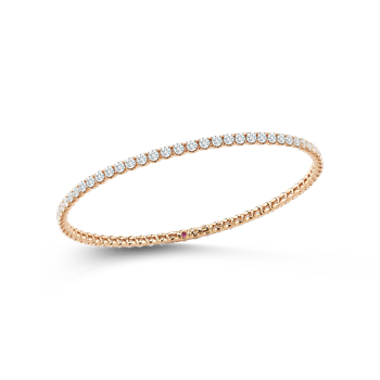 Bangle With Diamonds &Ndash; 18K Rose Gold, L