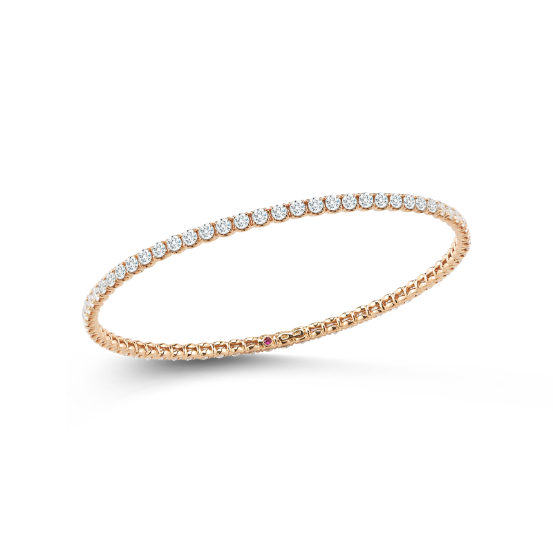Roberto Coin Bangle With Diamonds &Ndash; 18K Rose Gold, L