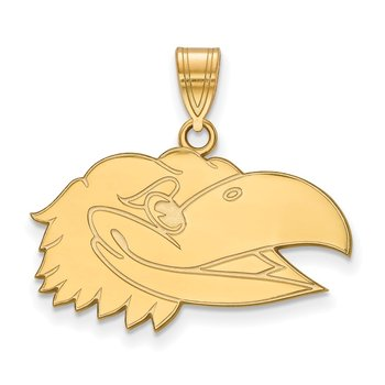 Gold University of Kansas NCAA Pendant