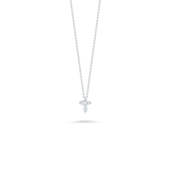 Baby Cross Pendant With Diamonds &Ndash; 18K White Gold