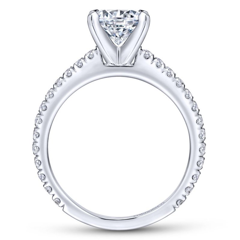 Gabriel Bridal Top Picks 14K White Gold Round Diamond Engagement Ring
