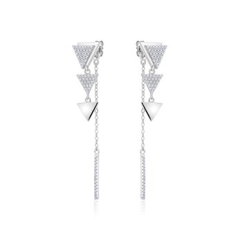 Dangling Three Triangle Earrings