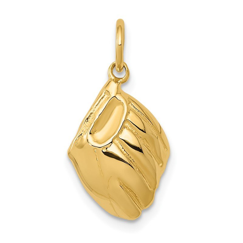 Quality Gold 14k Baseball Glove Charm