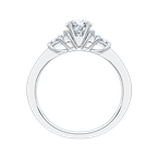 Promezza 14K White Gold Round Diamond Engagement Ring