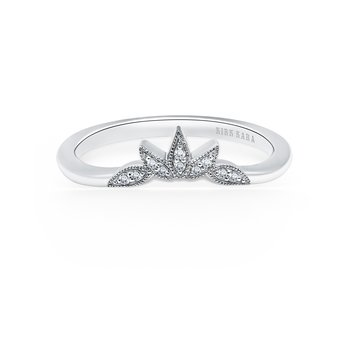 Floral Boho Diamond Wedding Band