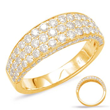 Yellow Gold Pave Diamond Band