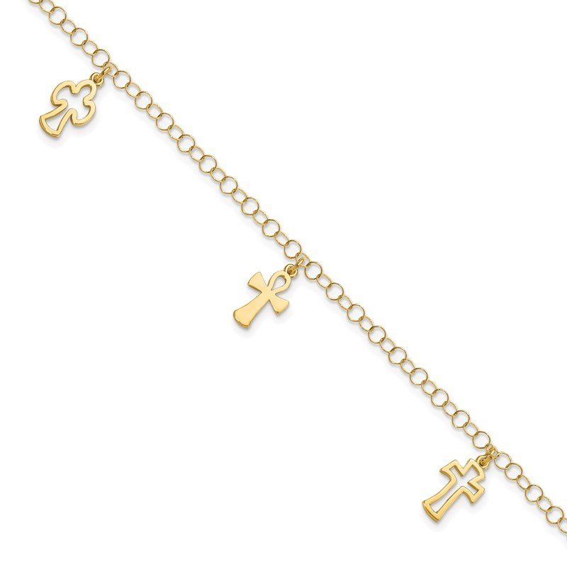 Leslie's Leslie's 14K Polished Cross Bracelet