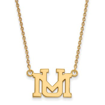 Gold University of Montana NCAA Necklace