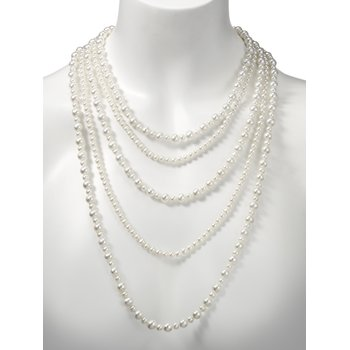 Popcorn Pearl Bib Necklace