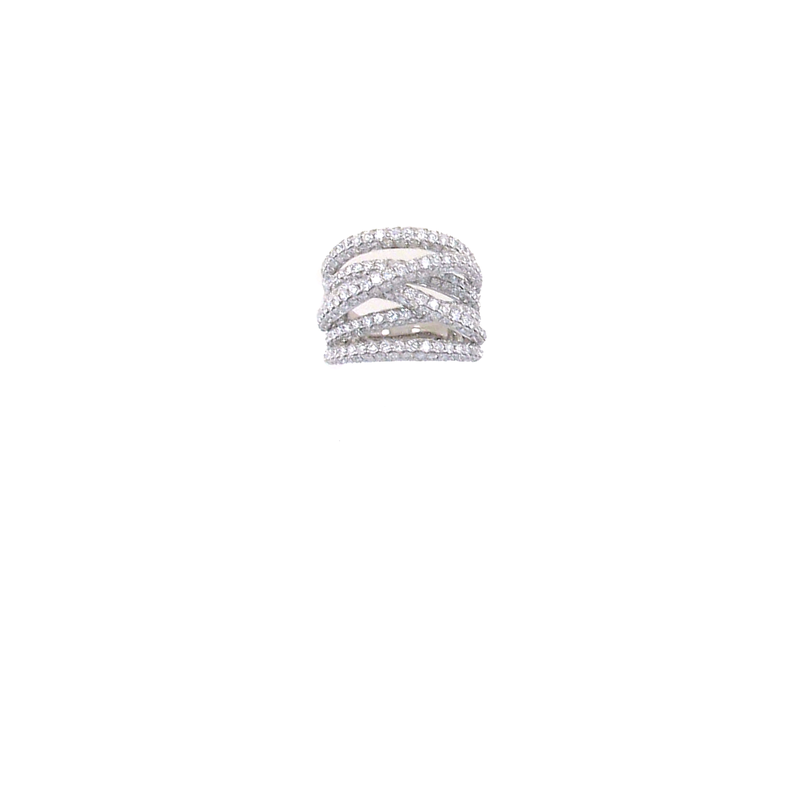 Roberto Coin 18Kt Gold Diamond Crossover Ring