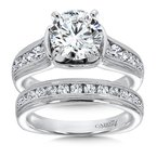 Caro74 Grand Opulance Collection Diamond Engagement Ring With Channel Set Side Stones in 14K White Gold with Platinum Head (2ct. tw.)