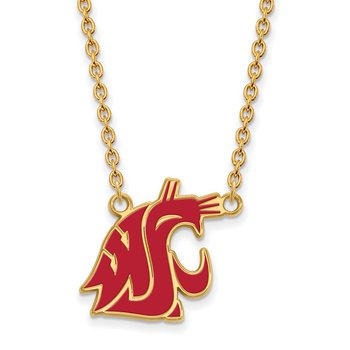 Gold-Plated Sterling Silver Washington State University NCAA Necklace