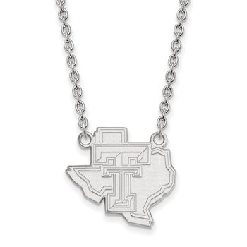 Sterling Silver Texas Tech University NCAA Necklace