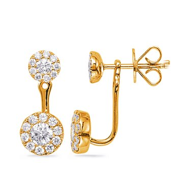 Yellow Gold Diamond Earring Jacket